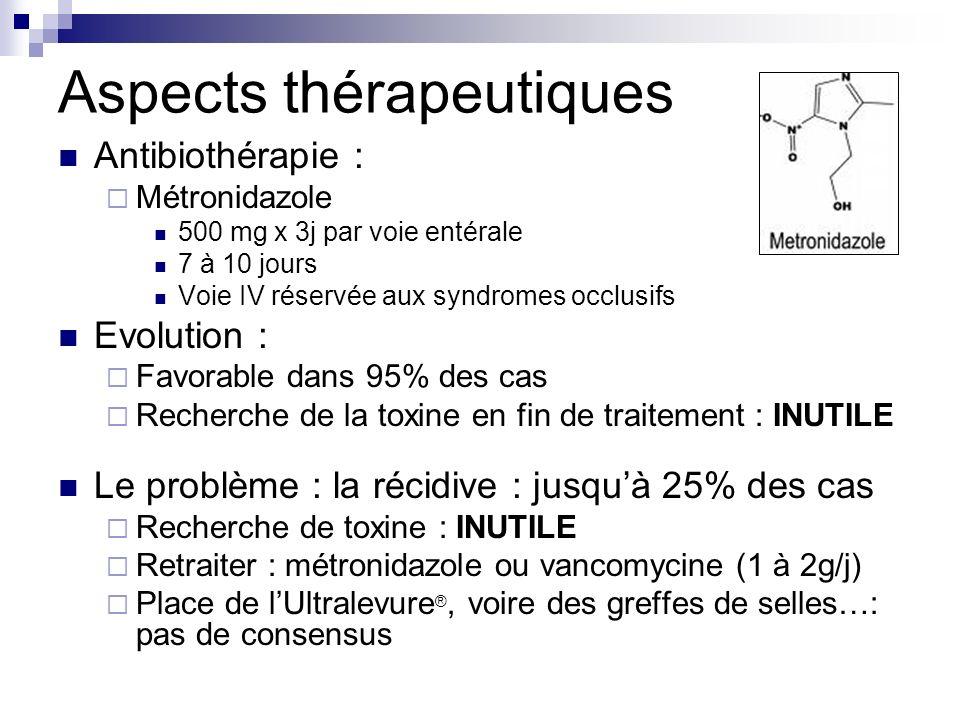 Aspects thérapeutiques