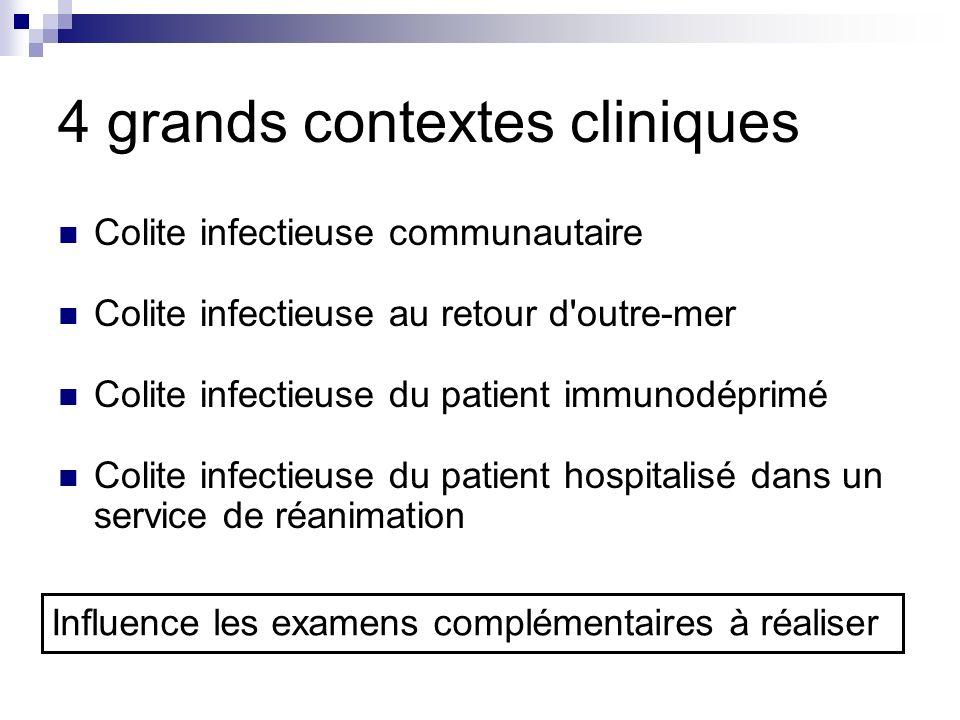 4 grands contextes cliniques