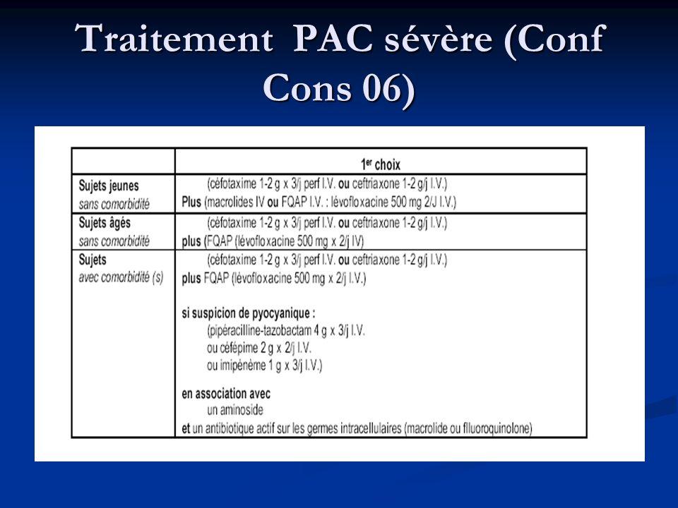 Traitement PAC sévère (Conf Cons 06)