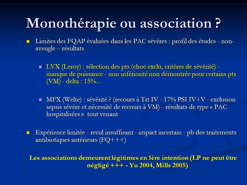 Monothérapie ou association