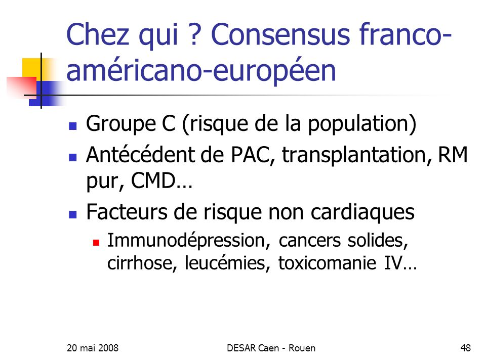 Chez qui Consensus franco-américano-européen