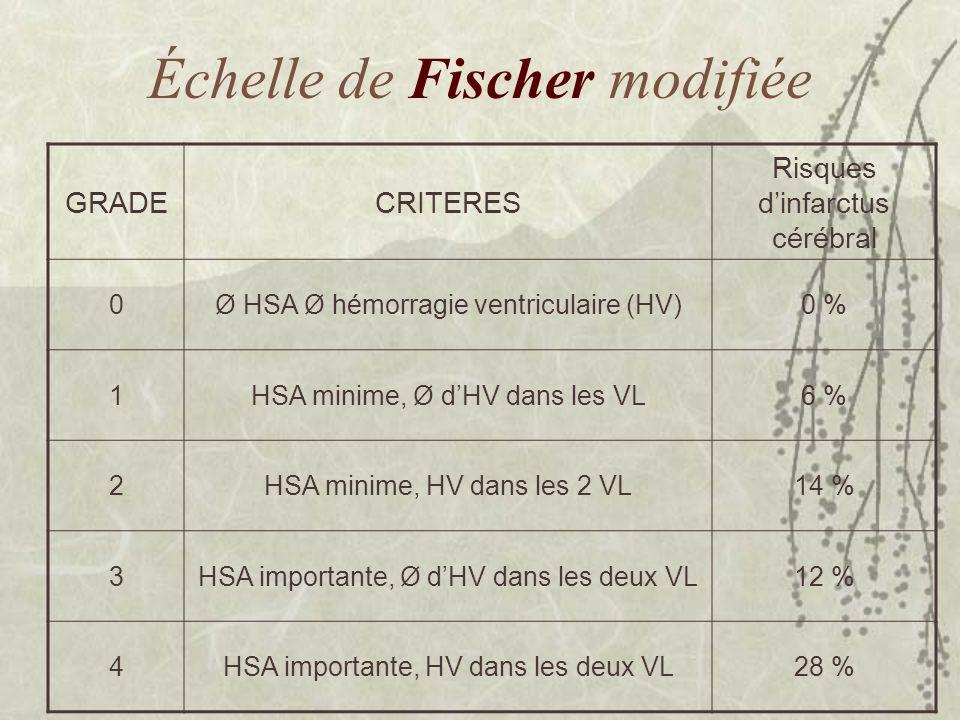 Échelle de Fischer modifiée