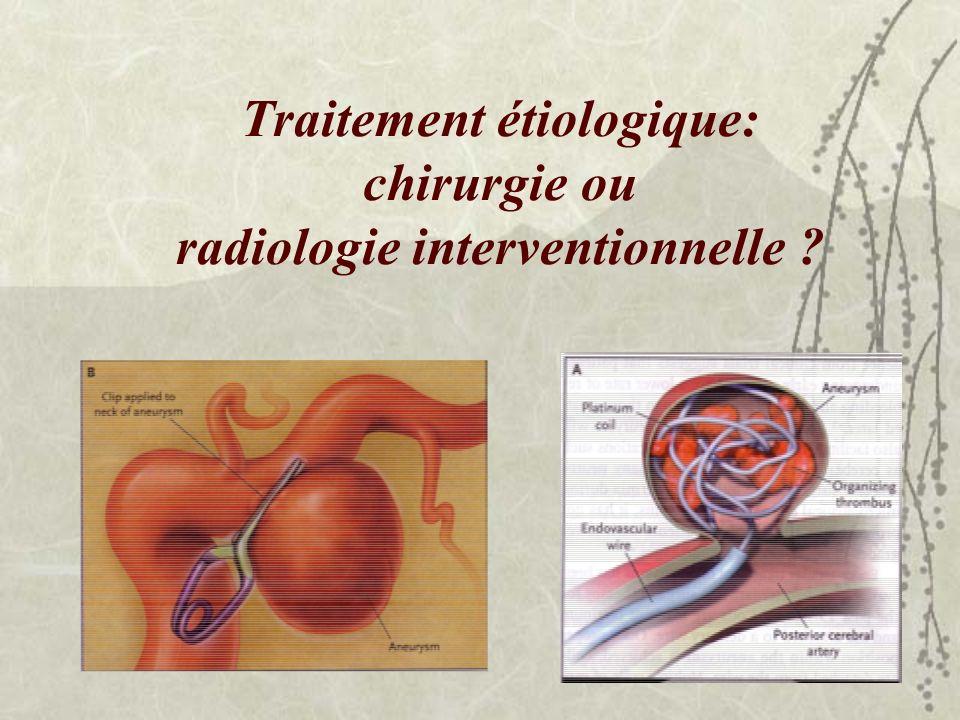Traitement étiologique: chirurgie ou radiologie interventionnelle