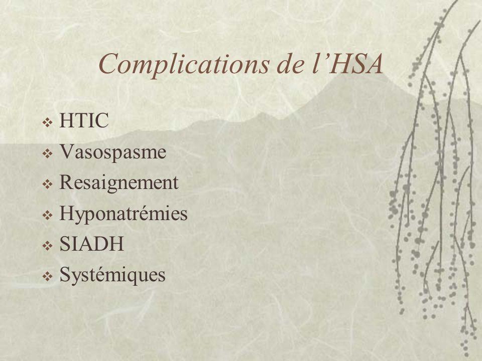 Complications de l'HSA