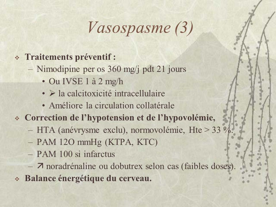 Vasospasme (3) Traitements préventif :
