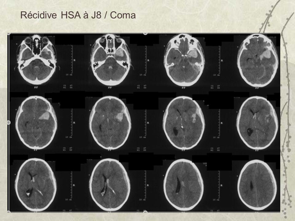 Récidive HSA à J8 / Coma