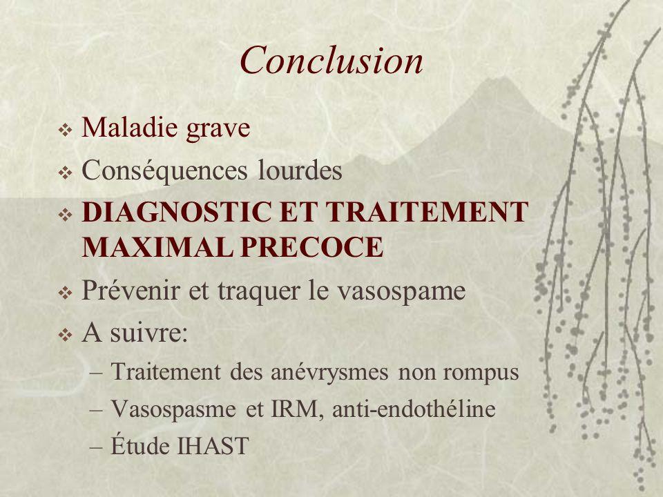 Conclusion Maladie grave Conséquences lourdes