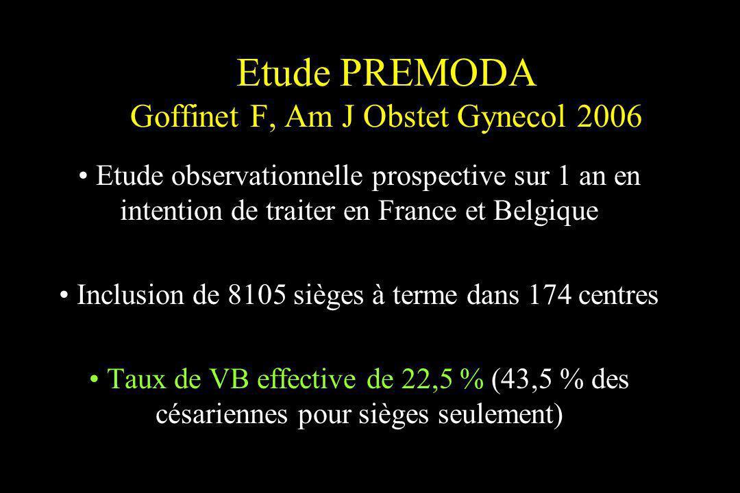 Etude PREMODA Goffinet F, Am J Obstet Gynecol 2006