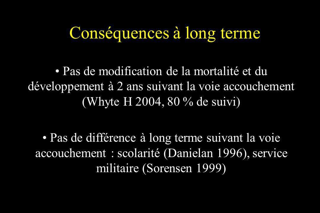 Conséquences à long terme