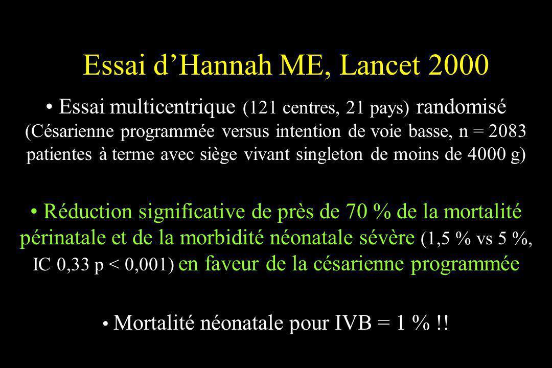 Essai d'Hannah ME, Lancet 2000