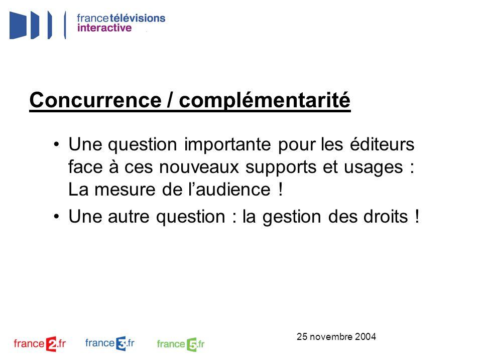 Concurrence / complémentarité