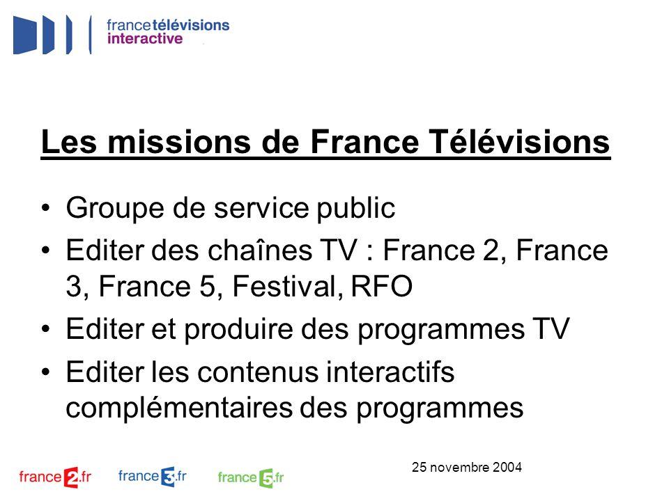 Les missions de France Télévisions