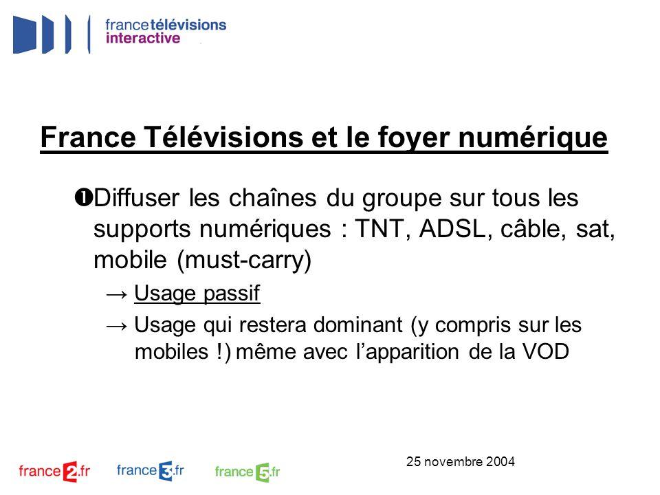 France Télévisions et le foyer numérique