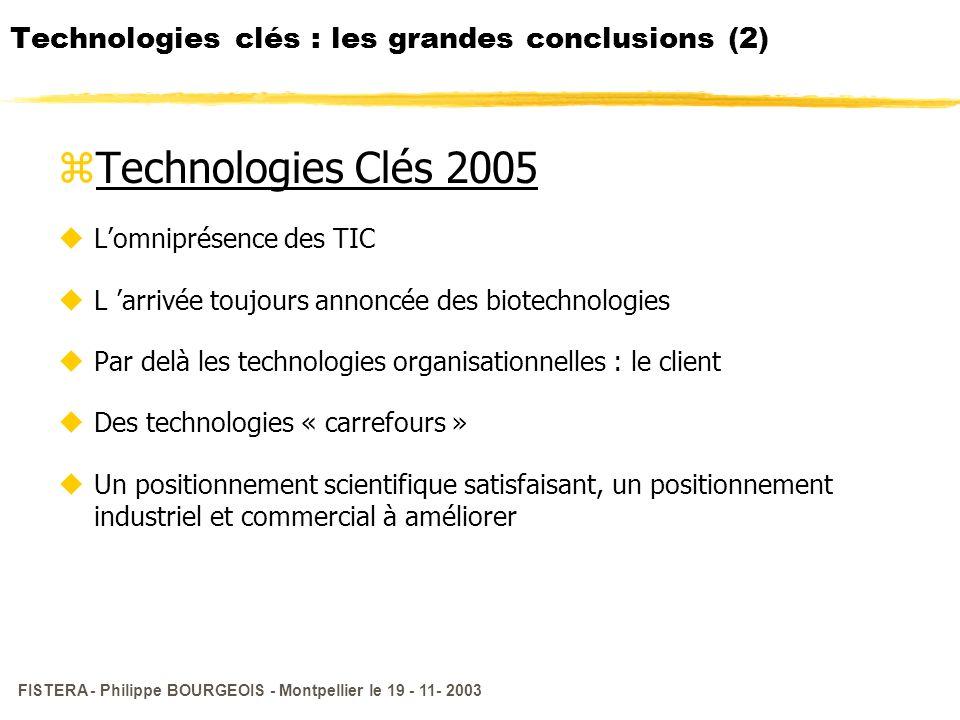 Technologies clés : les grandes conclusions (2)