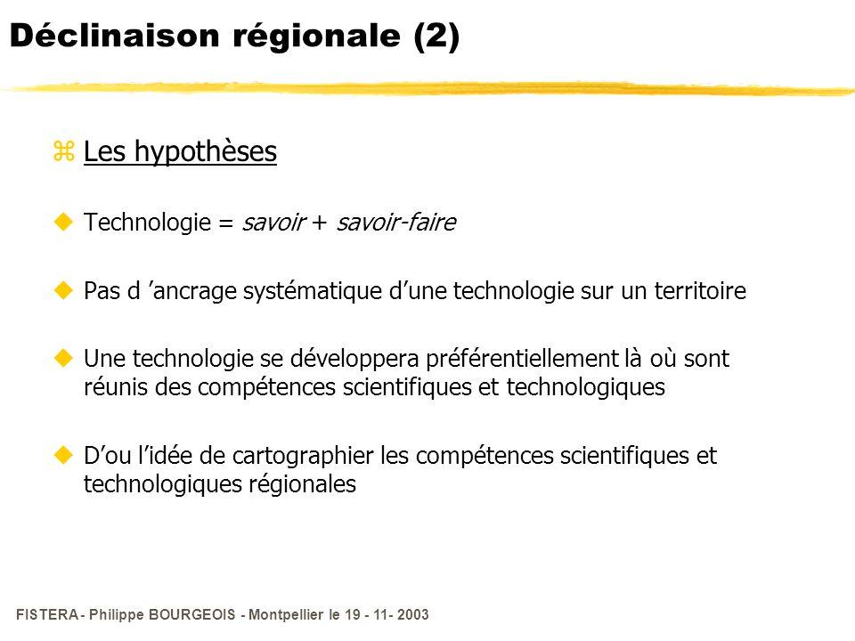 Déclinaison régionale (2)