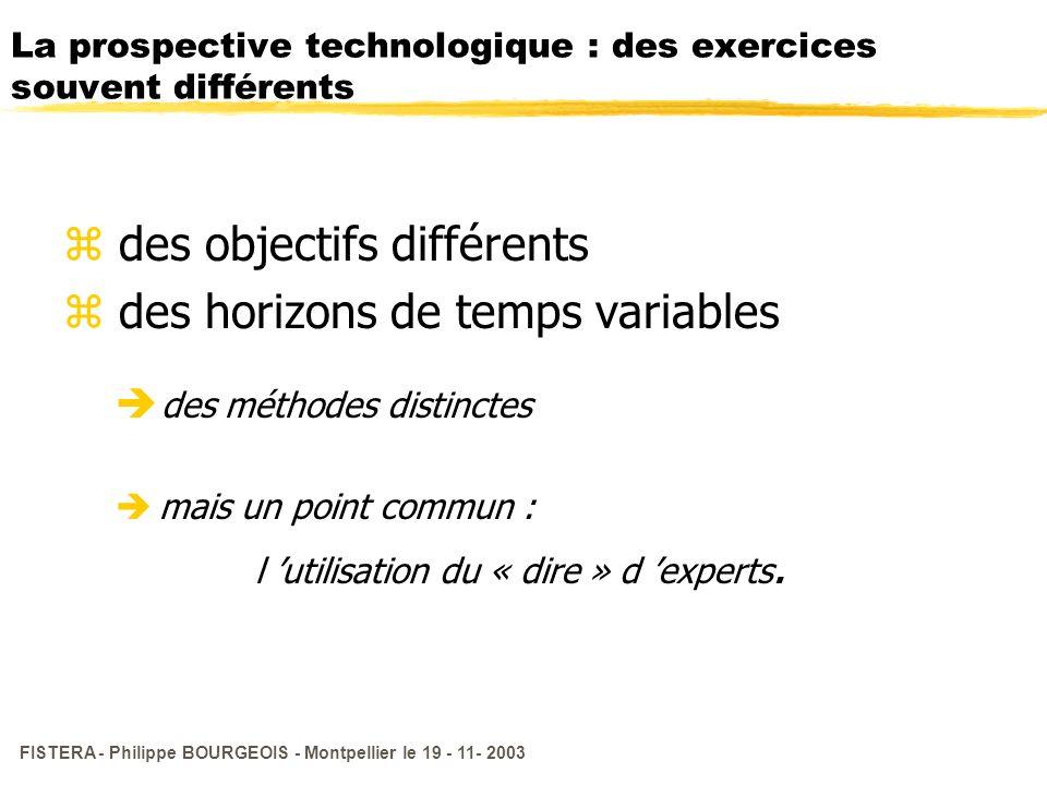 La prospective technologique : des exercices souvent différents