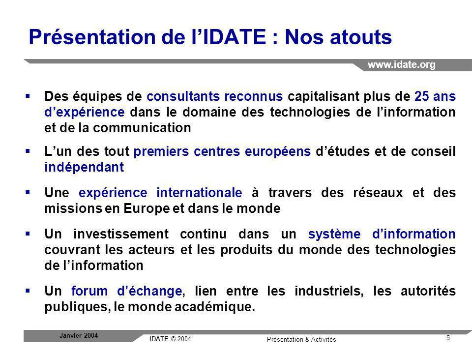 Présentation de l'IDATE : Nos atouts