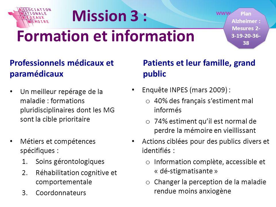 Mission 3 : Formation et information