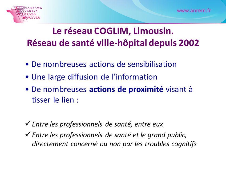 Le réseau COGLIM, Limousin. Réseau de santé ville-hôpital depuis 2002