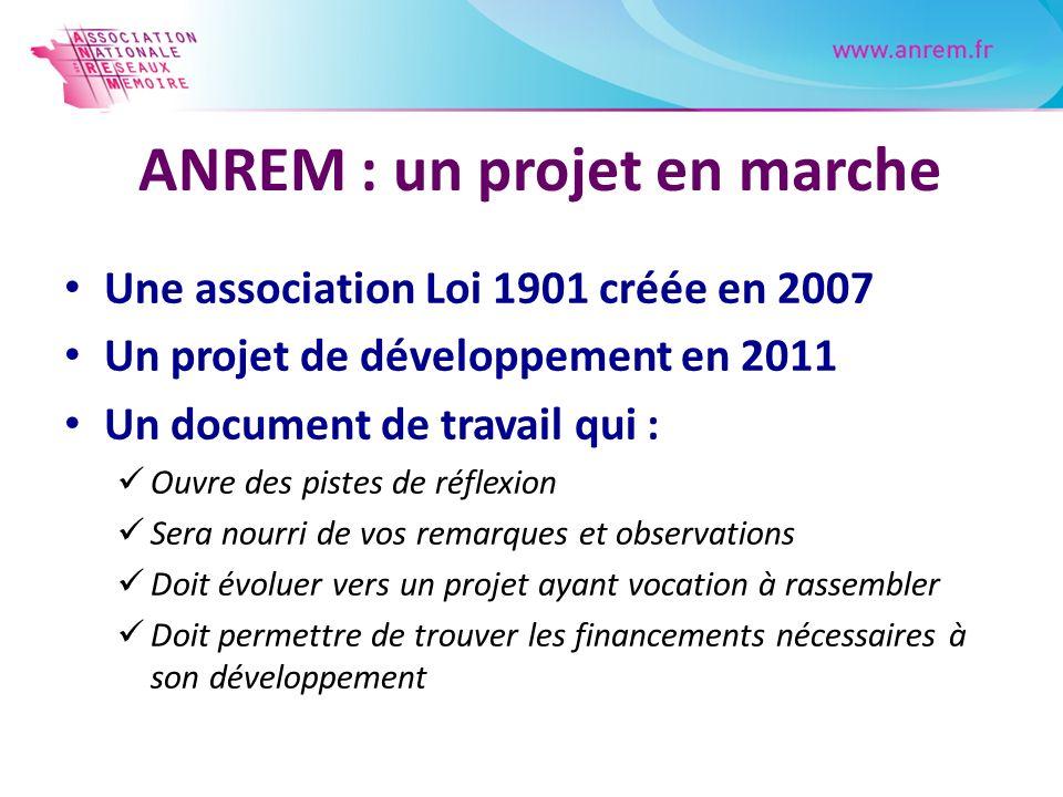 ANREM : un projet en marche