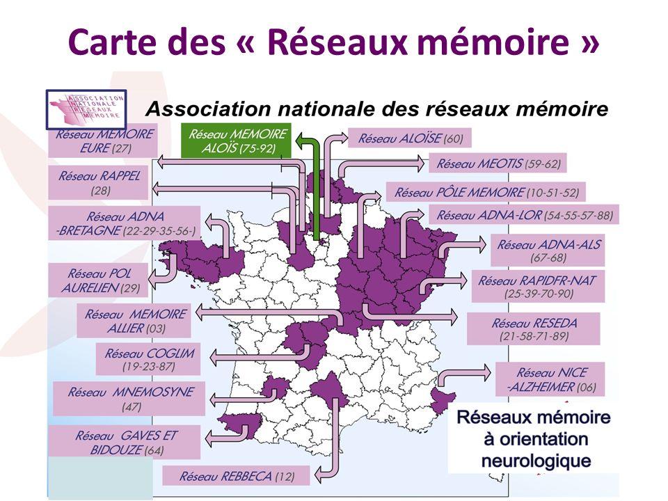 Carte des « Réseaux mémoire »