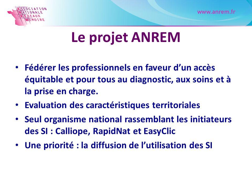 Le projet ANREM Fédérer les professionnels en faveur d'un accès équitable et pour tous au diagnostic, aux soins et à la prise en charge.