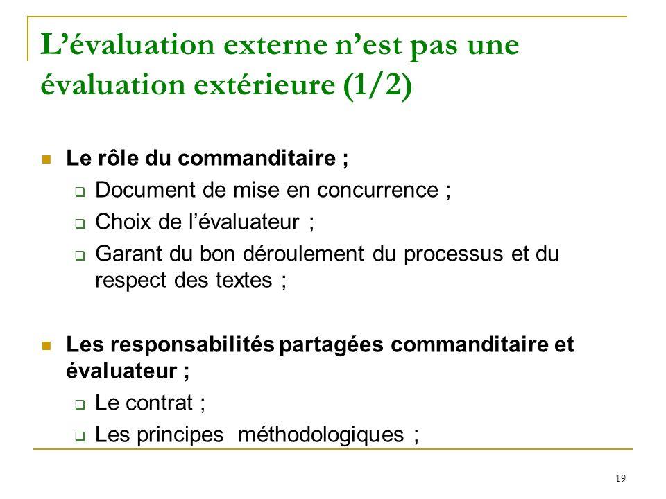 L'évaluation externe n'est pas une évaluation extérieure (1/2)