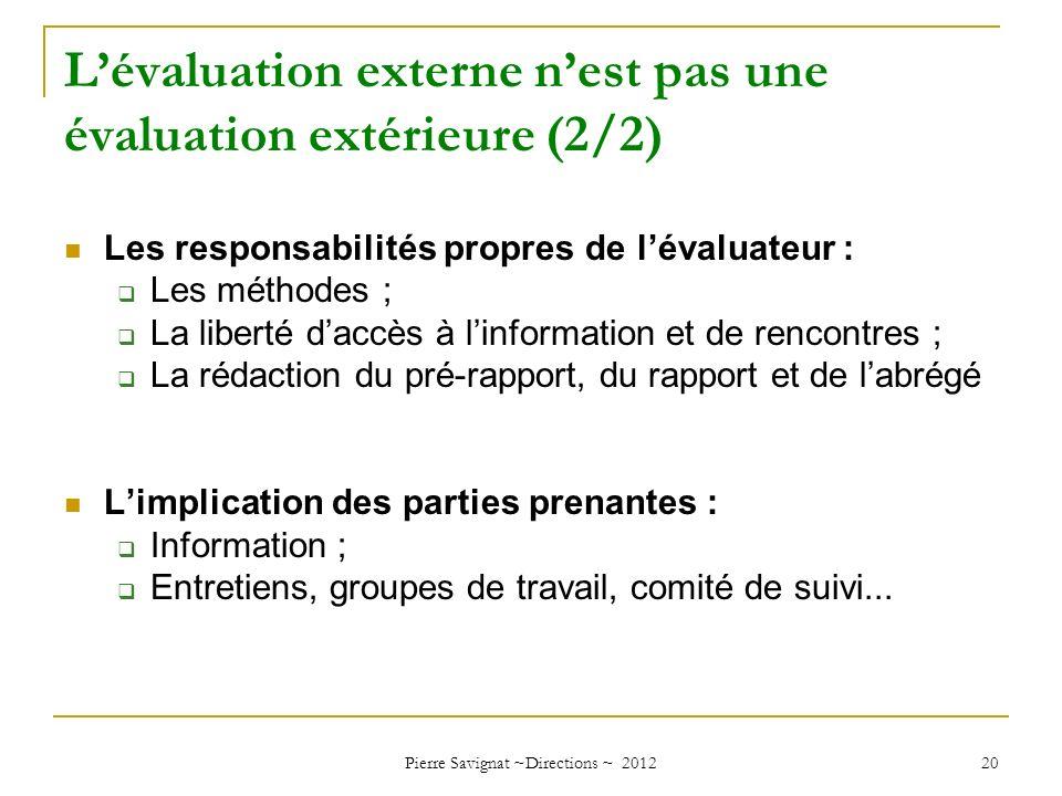 L'évaluation externe n'est pas une évaluation extérieure (2/2)