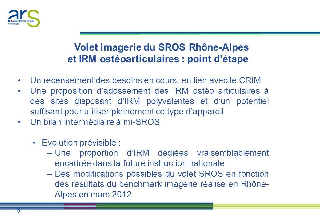 Volet imagerie du SROS Rhône-Alpes