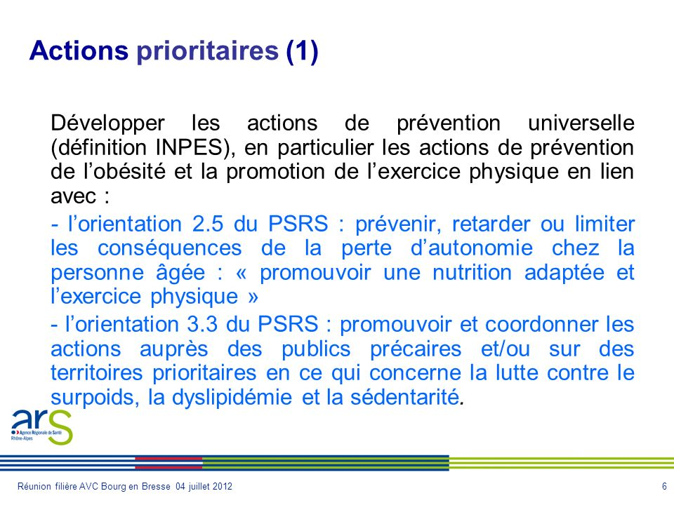 Actions prioritaires (1)