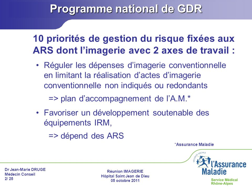 Programme national de GDR