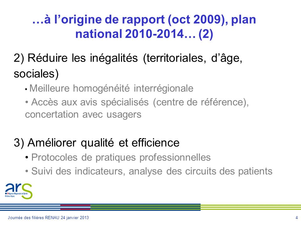 …à l'origine de rapport (oct 2009), plan national 2010-2014… (2)