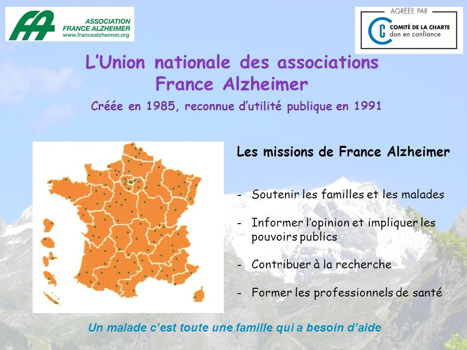 L'Union nationale des associations France Alzheimer