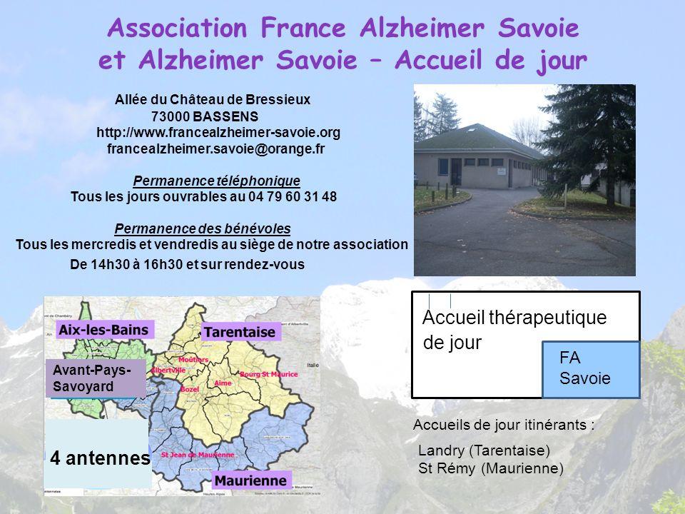 Association France Alzheimer Savoie et Alzheimer Savoie – Accueil de jour