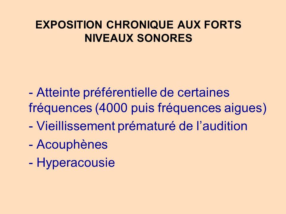 EXPOSITION CHRONIQUE AUX FORTS NIVEAUX SONORES
