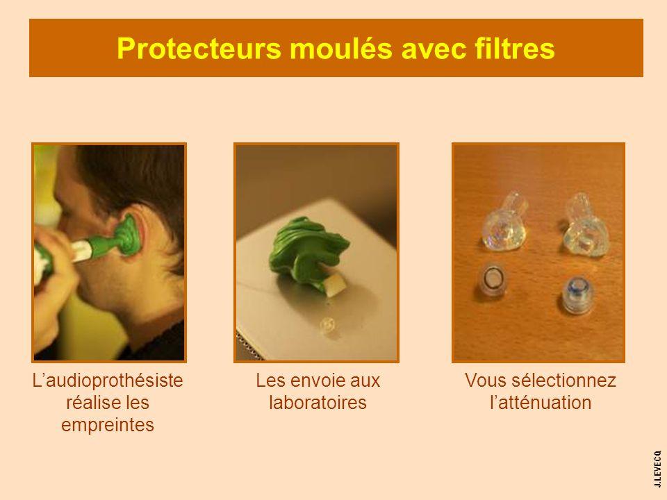 Protecteurs moulés avec filtres