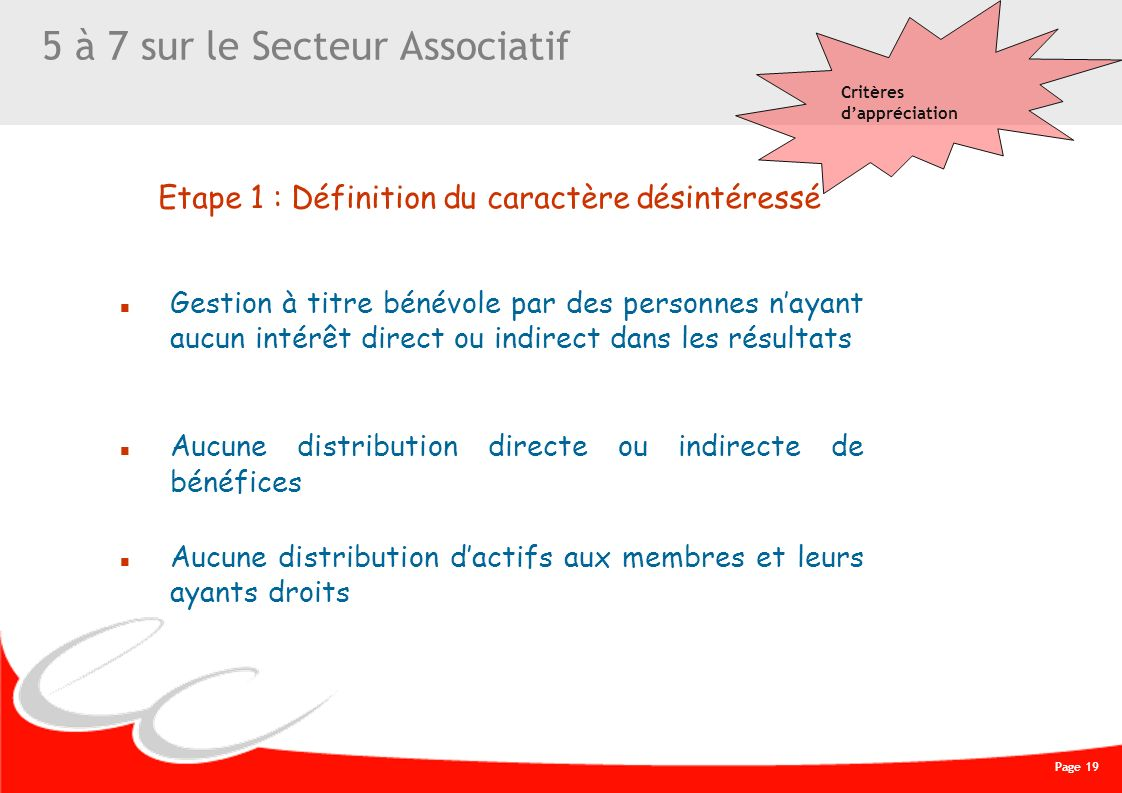5 à 7 sur le Secteur Associatif