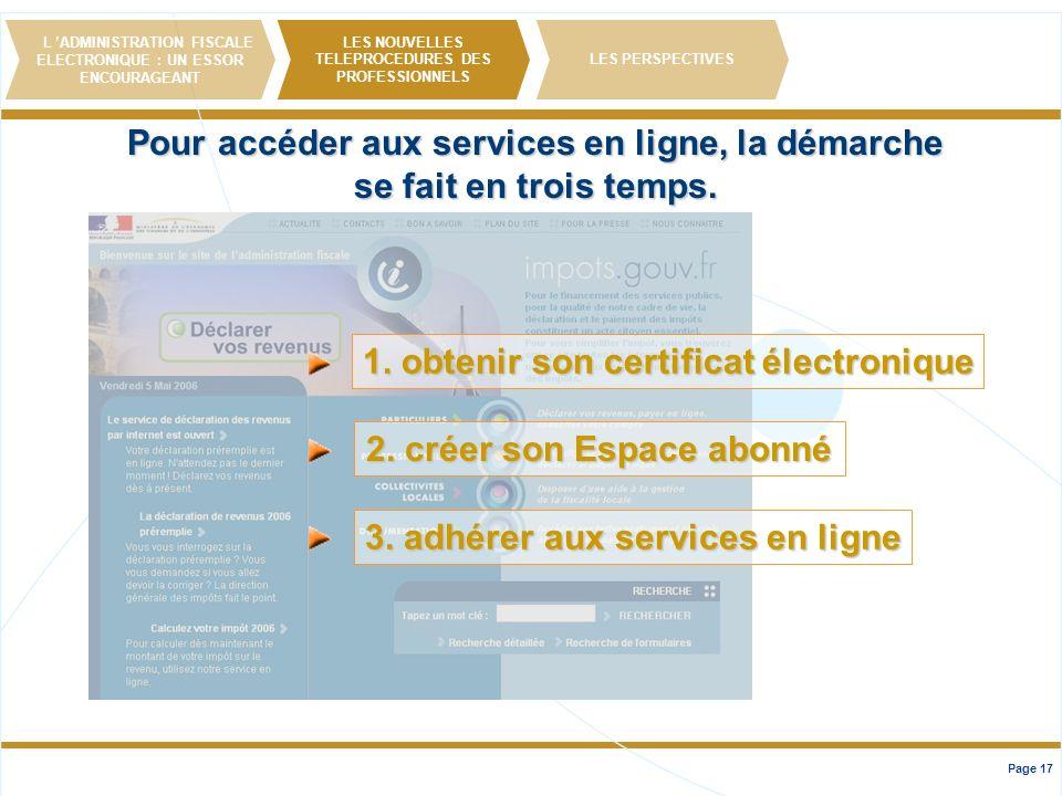 Pour accéder aux services en ligne, la démarche