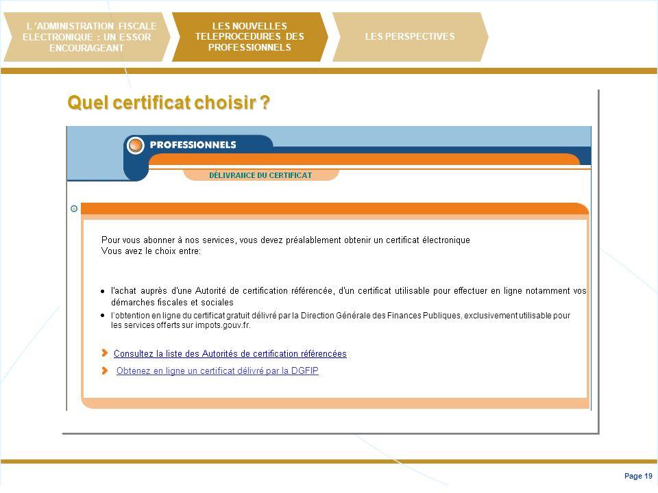 Quel certificat choisir