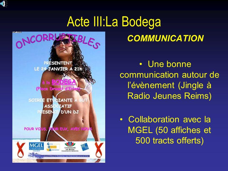 Collaboration avec la MGEL (50 affiches et 500 tracts offerts)