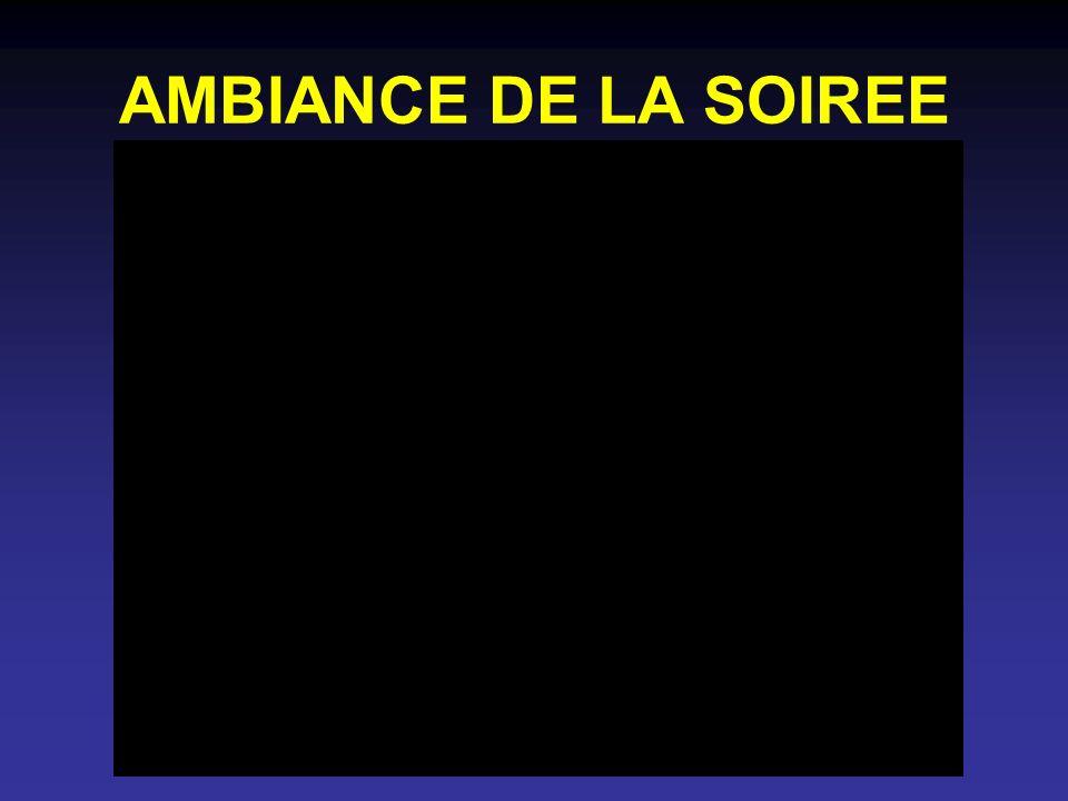 AMBIANCE DE LA SOIREE