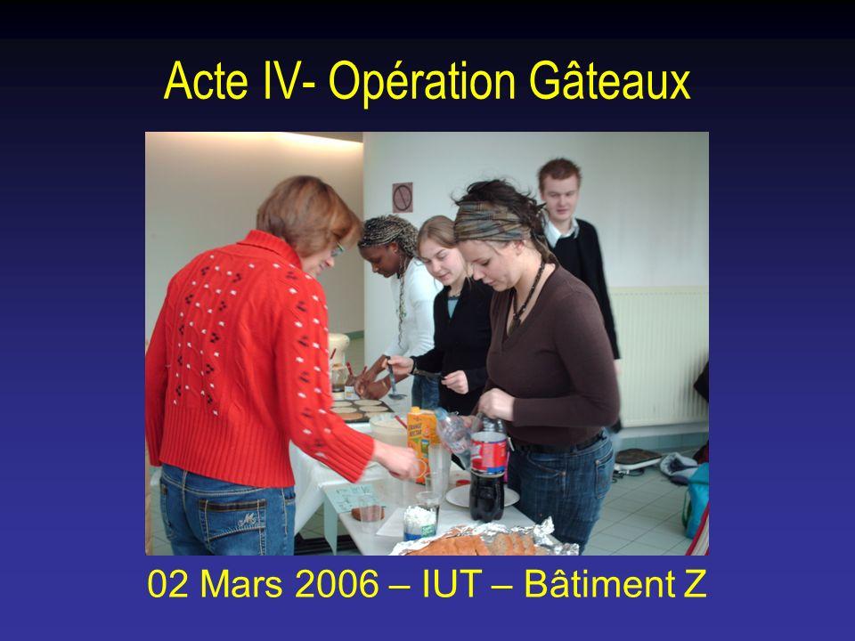 Acte IV- Opération Gâteaux