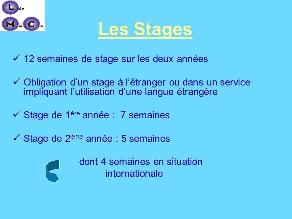 dont 4 semaines en situation
