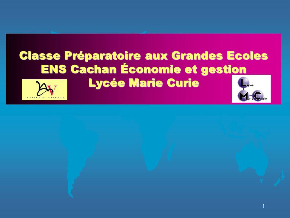 Classe Préparatoire aux Grandes Ecoles ENS Cachan Économie et gestion