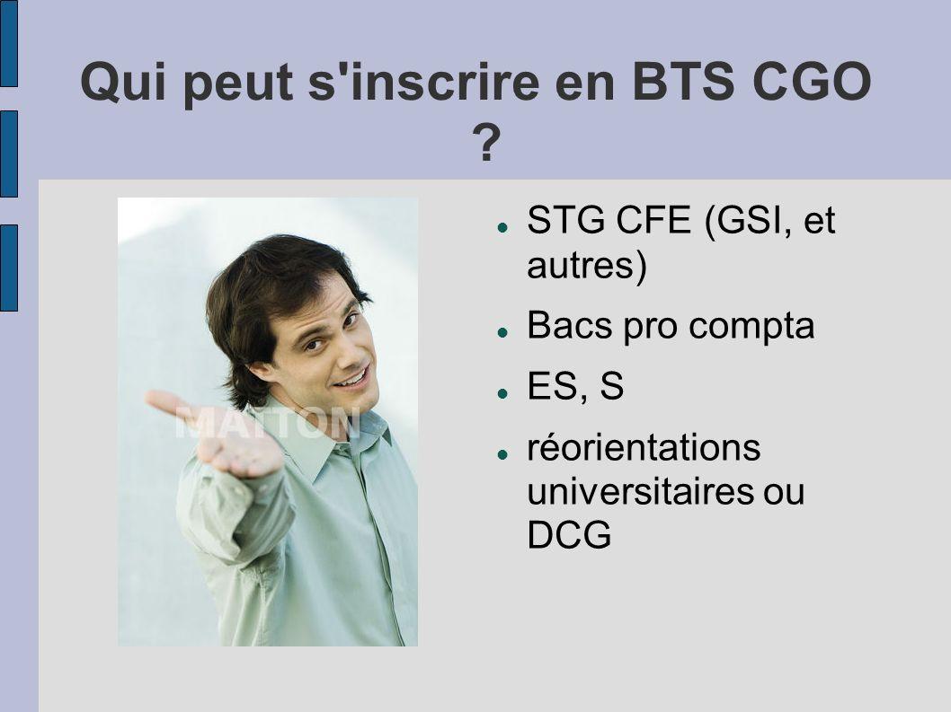 Qui peut s inscrire en BTS CGO
