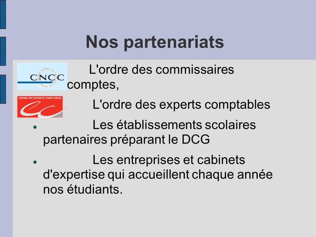 Nos partenariats L ordre des commissaires aux comptes,