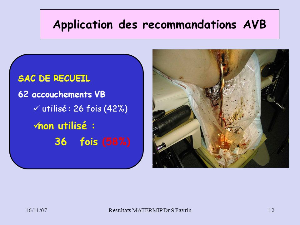 Application des recommandations AVB