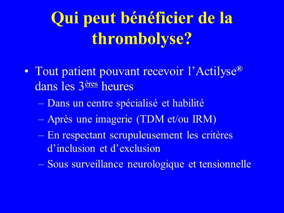 Qui peut bénéficier de la thrombolyse
