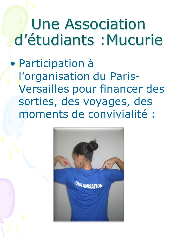 Une Association d'étudiants :Mucurie