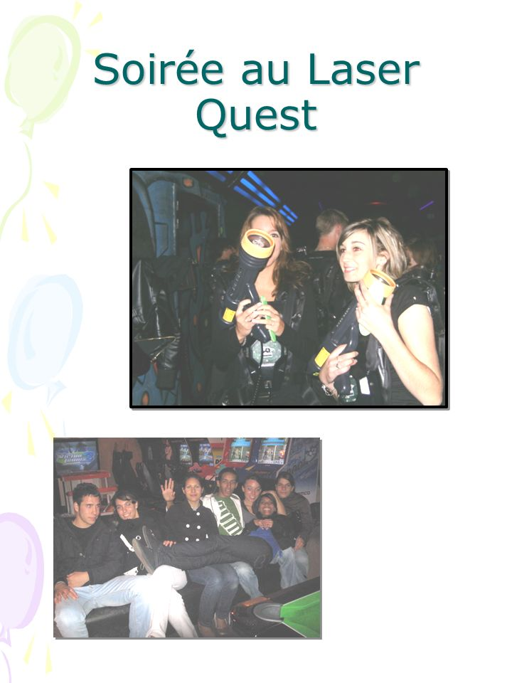 Soirée au Laser Quest